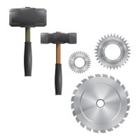 Set of hardware tools