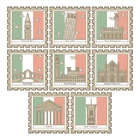 Popular : Set of italy landmarks icons