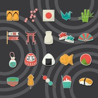 Popular : Set of japan icons