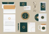 Set of law firm design icons