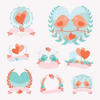 Set of love emblems