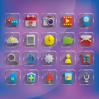 Popular : Set of mobile application icons