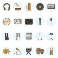 Popular : Set of music icons
