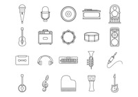 Set of musical icons