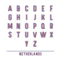 Set of netherlands ribbon alphabets