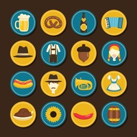 Popular : Set of oktoberfest icons