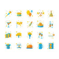 Popular : Set of party icons