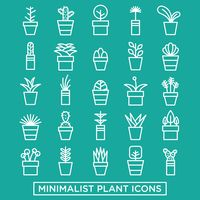 Set of plant icons