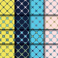 Set of seamless fabric patterns