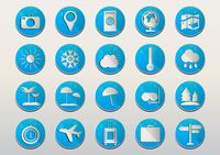 Set of travel icons