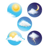 Set of weather realistic icons