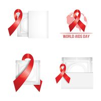 Set of world aids day campaign icons