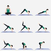 yoga yogas exercise exercises fitness pose poses asana