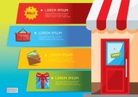 Popular : Shopping infographic