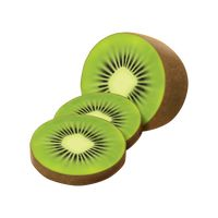 Sliced kiwi fruit with skin