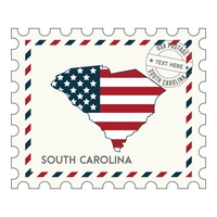 South carolina postage stamp