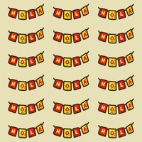 Spain hola bunting pattern background