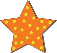 Popular : Star with polka dot pattern