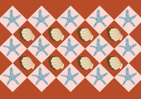 Starfish and shell background