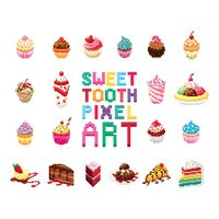 Sweet tooth pixel art collection
