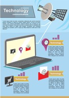 Technology communications infographic