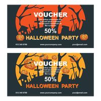 Two halloween party voucher