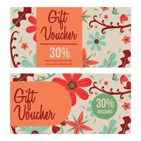 Two vintage gift voucher
