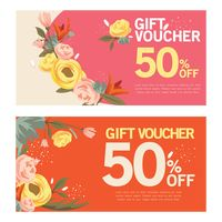 Two vintage gift vouchers