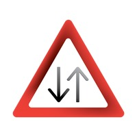 Popular : Two-way road sign