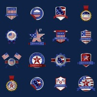 Usa independence day labels