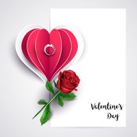 Valentine design with ring