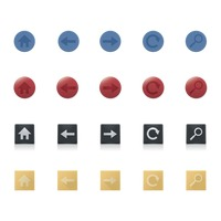 Popular : Various button icons