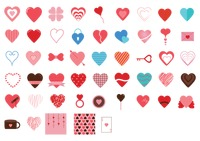 Various heart icons