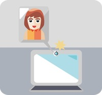 Popular : Video chat on a laptop