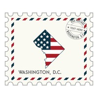 Washington dc postage stamp