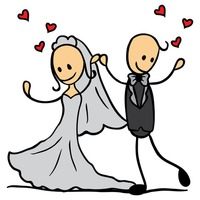 character characters wedding weddings marriage cartoon cute adorable rh stockunlimited com After Party Clip Art Wedding Flowers Clip Art