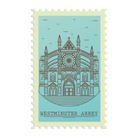 Westminster abbey postage stamp
