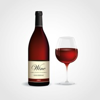 Popular : Wine bottle and glass