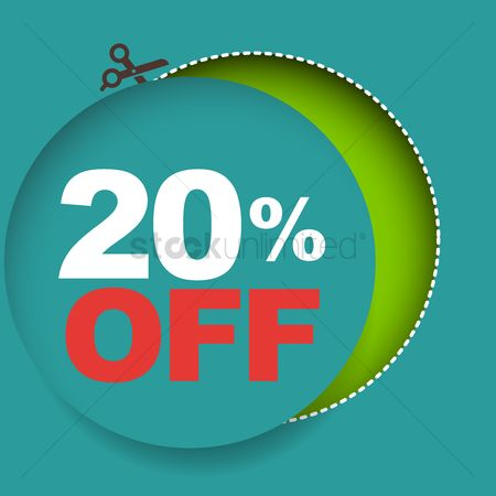 Poster : 20 percent off sale