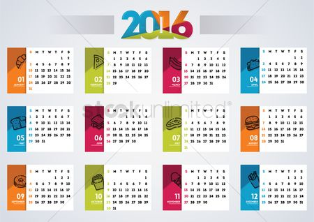 French fries : 2016 calendar