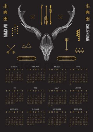 Oct : 2017 buck design calendar