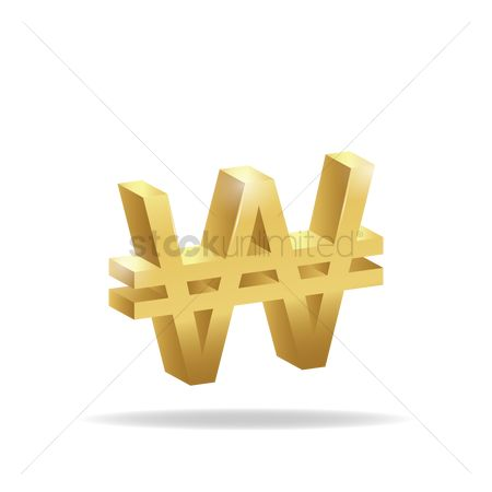 Free Won Currency Symbol Stock Vectors Stockunlimited