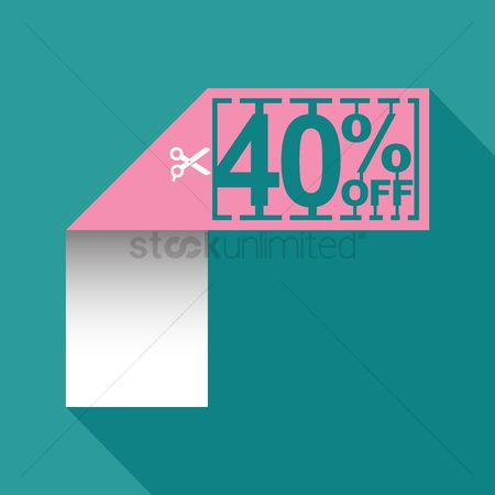 Poster : 40 percent off sale