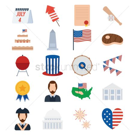 Percussions : 4th of july american independence day labels