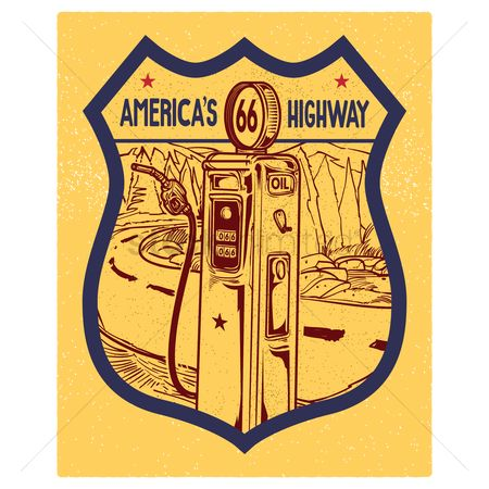 Roadsigns : 66 america s highway road sign