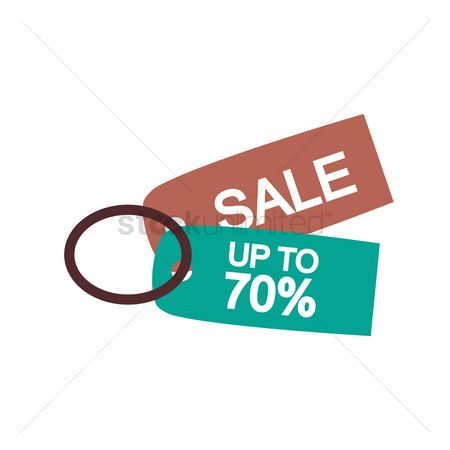 E commerces : 70 percent discount and sale tags