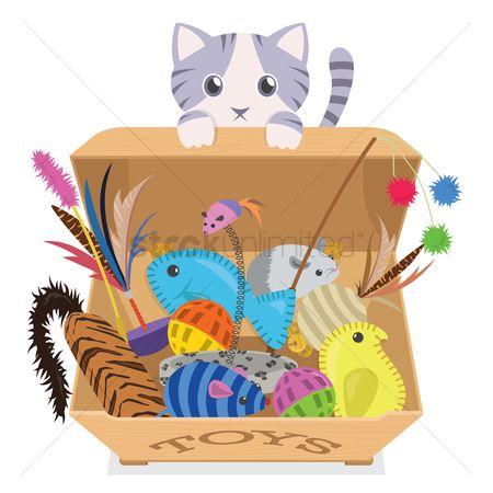 free cat toys stock vectors stockunlimited