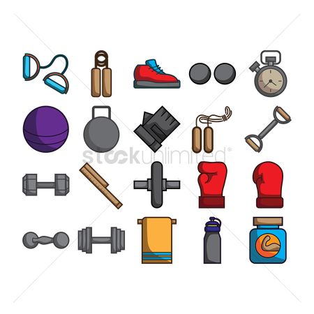 Strength exercise : A collection of gym items