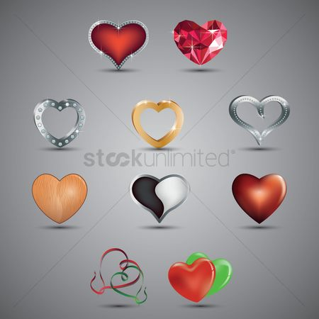 Heart shape : A collection of hearts