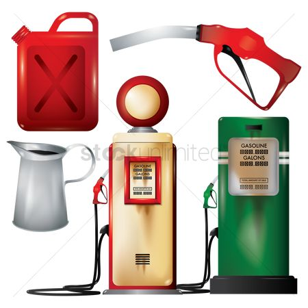 Tanks : A collection of vintage gas station items